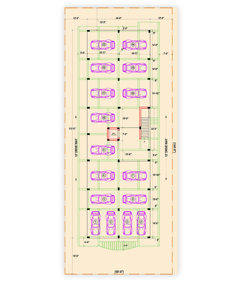 Sastha Apartments - Parking Floor Plan